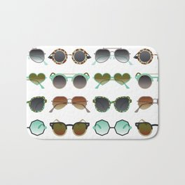 Sunglasses Collection – Mint & Tan Palette Bath Mat