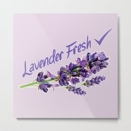 Lavender Fresh Pattern (powder pink) Metal Print