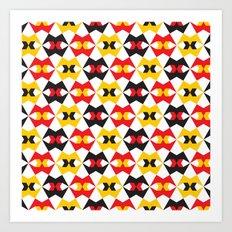 Geometric Pattern #180 (yellow red black) Art Print