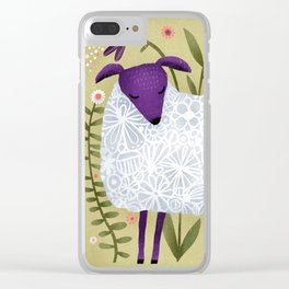WOOLY POSE Clear iPhone Case