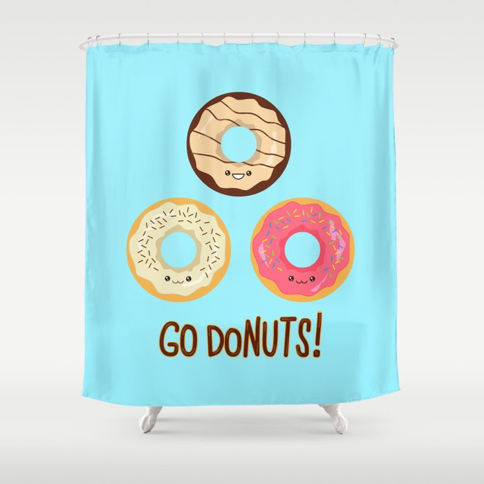 Go doNUTS! Shower Curtain