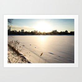 New York : The Snow, the Sun & The Skyline Art Print