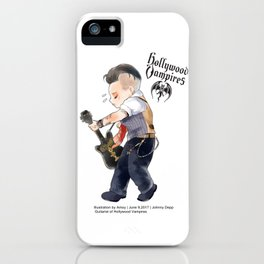 a vampire guitarist Johnny chibi iPhone Case