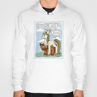 legolas Hoodies featuring Legolas and Gimli ponies MLP Lord of the Rings Crossover Parody  by BlacksSideshow