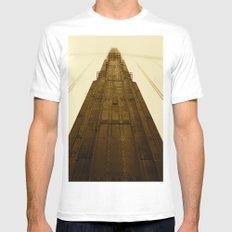 Golden Gate Bridge MEDIUM Mens Fitted Tee White
