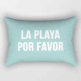 La Playa Por Favor Rectangular Pillow