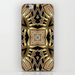 Black Gold Geometric Love iPhone Skin