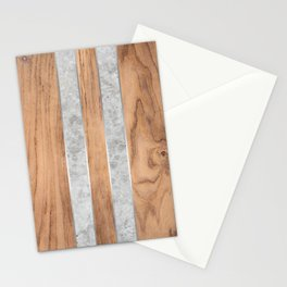 Striped Wood Grain Design - Concrete #347 Stationery Cards