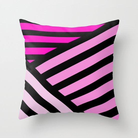 STRIPED {PINK} Throw Pillow