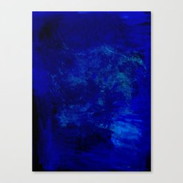 Blue Night- Abstract digital Art Canvas Print