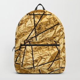 Shiny yellow gold with marble Backpack