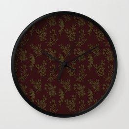 Wild Botanicals, Vintage Flowers, Vintage, Abstract, Art-Noveau Wall Clock