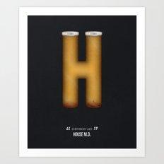 House M.D. Tv Alphabet Art Print