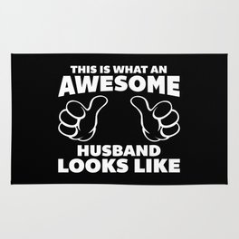 Awesome Husband Looks Like Quote Rug