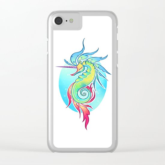 Sea Unicorn Clear iPhone Case