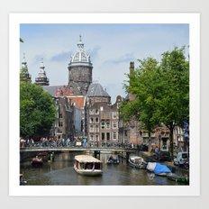 Sunny Amsterdam Art Print