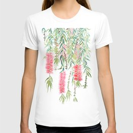 bottle brush tree flower T-shirt