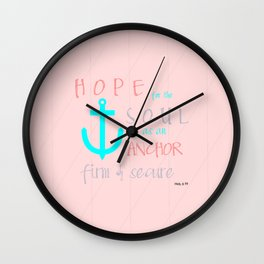 Hope for the Soul (striped) Wall Clock