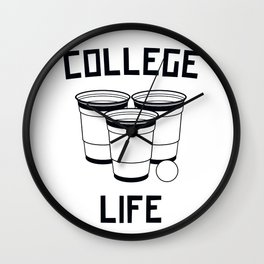 College Life Wall Clock