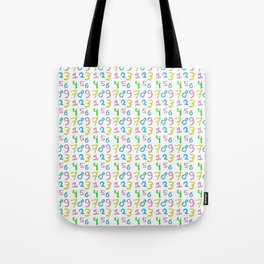 number 1- count,math,arithmetic,calculation,digit,numerical,child,school Tote Bag