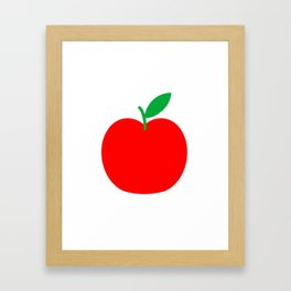 Apple Bright Scandinavian Framed Art Print