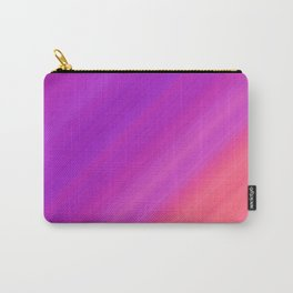 Orange & Purple Diagonal Stripes | Bright gradient pattern Carry-All Pouch