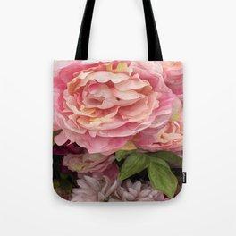 Oil Paint Flower Tote Bag