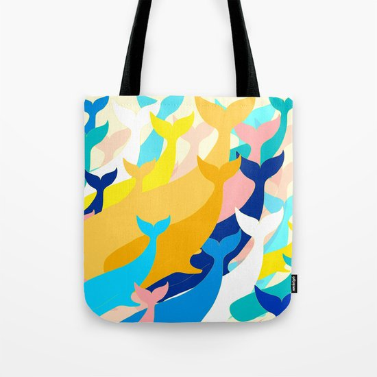 Chill Whales Tote Bag