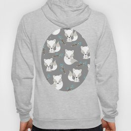 ARCTIC FOXES ON GREY Hoody