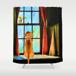 Daydreaming by Liane Wright Shower Curtain