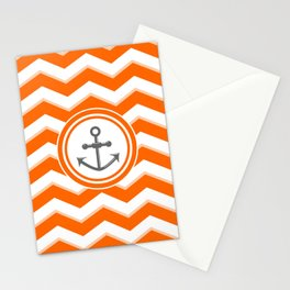 Chevron Anchor Stationery Cards
