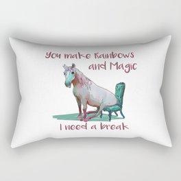 Unicorn Break Rectangular Pillow