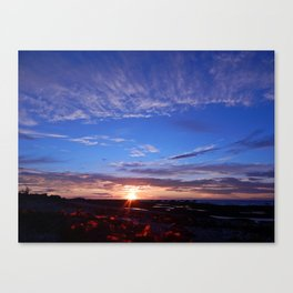 Sunset and Blue Sky Canvas Print