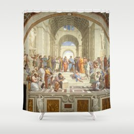 Raphael - The School of Athens Shower Curtain