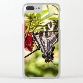 Butterfly on an Azalea Clear iPhone Case