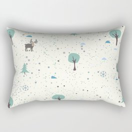 Moose on the meadow Rectangular Pillow