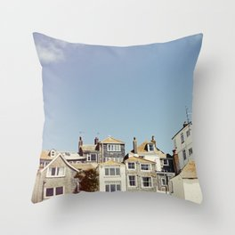 St. Ives house with tilt and shift view. Throw Pillow