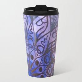 blue, green, purple Travel Mug