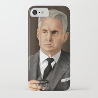 mad men iPhone & iPod Cases featuring Roger Sterling (Mad Men) by San Fernandez