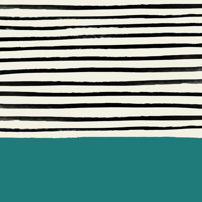Teal x Stripes Comforters