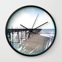 Victorian Pier - paint Wall Clock
