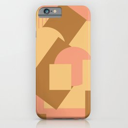 Geometrical abstract mash-up soft earth colors iPhone Case