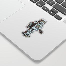 Retro Robot Toy Sticker