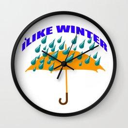 I like winter Wall Clock