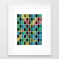 mosaic Framed Art Prints featuring Mosaic by Tammy Kushnir