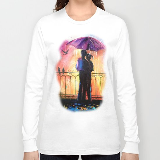 Lovers in the rain Long Sleeve T-shirt
