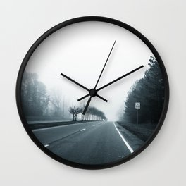 Empty Road Wall Clock