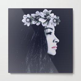 Porcelain Dark Beauty W. Metal Print