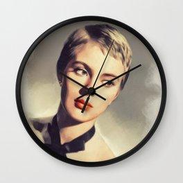 Jean Seberg, Vintage Actress Wall Clock