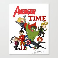 avenger Canvas Prints featuring Avenger Time! by ArtisticCole